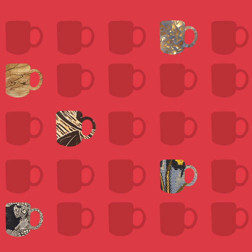 Mug Square Graphic texture